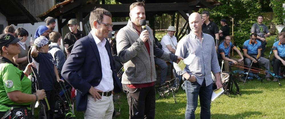 Eröffnung durch Bürgermeister Dr. Eger, André Brendemühl (Sportwart) und Frank Adler (1. Vorstand)
