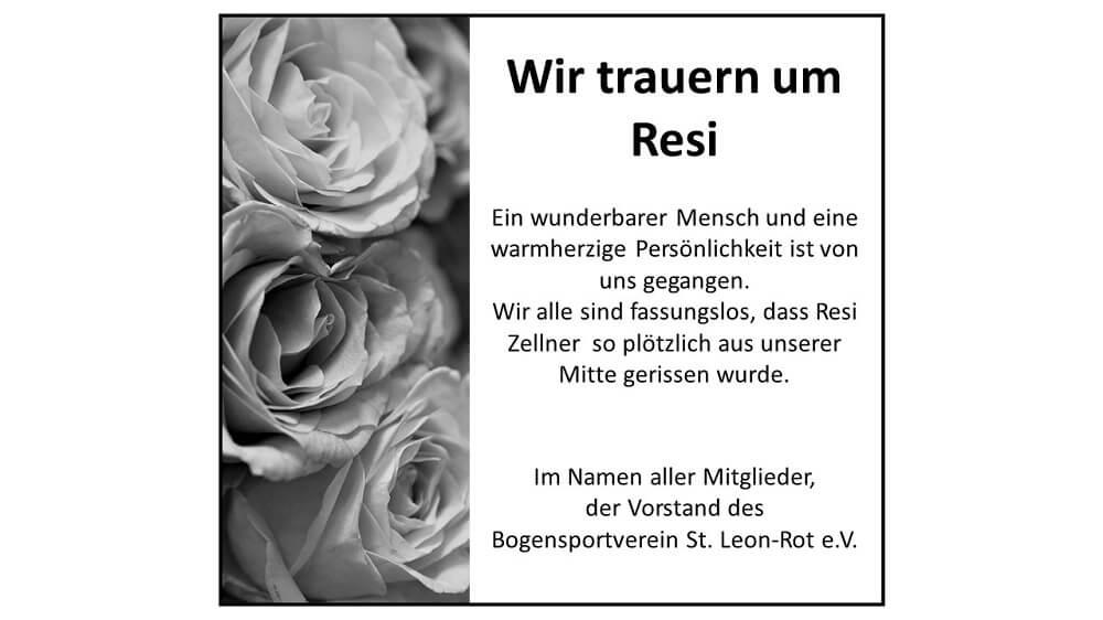 Nachruf Resi Zellner